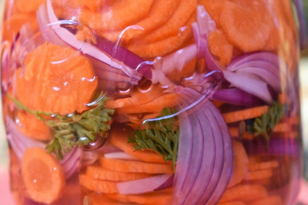 pickels de carotte fermentée
