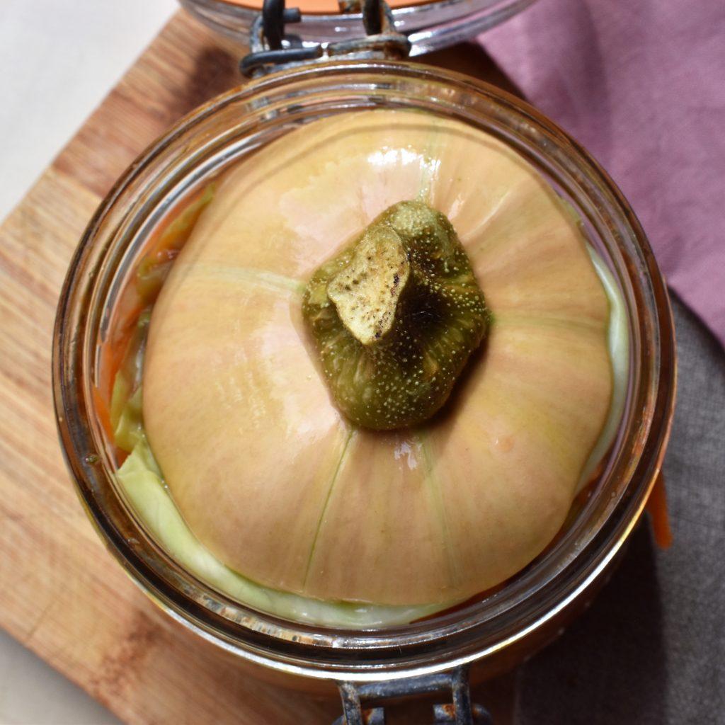 bloquer légume pendant fermentation